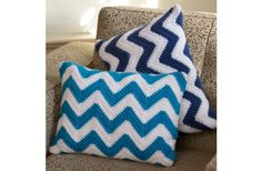 Red Heart with Love Chevron Pillow Pair