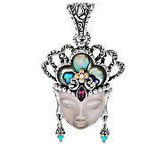 Barbara Bixby Sterling/18K Gemstone Quan Yin Enhancer - J277902