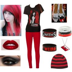 """Emo outfit 2 #3"" by teresa-warhell on Polyvore"