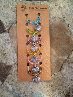Detailed Heart Wine Glass Charms - Set of Six on Etsy, $12.00