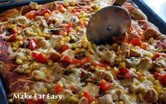 Make Eat Easy!: Pełnoziarnista pizza z kurczakiem