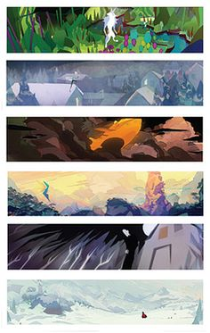 Rise of the Guardians - Color Scripts Patrick Hanenberger