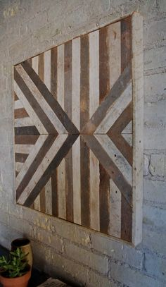 Reclaimed Wood Wall Art Lath Triangle By EleventyOneStudio On Etsy