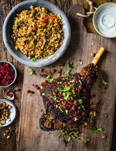 Ras El Hanout Lamb Recipe with Aubergine Pilaf Check out our lamb roast with aromatic ras el hanout and an easy spiced aubergine pilaf. A spicy alternative to a traditional roast, lamb is perfect for soaking up Middle Eastern flavours Easy Lamb Recipes, Roast Recipes, Cooking Recipes, Lamb Steak Recipes, Olive Recipes, Morrocan Lamb, Morrocan Food, Moroccan Leg Of Lamb Recipe, Lamb Roast Recipe