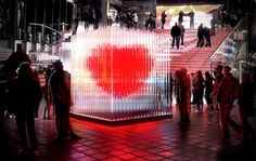 Time Square Heart Installation