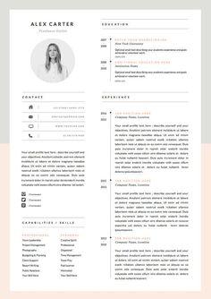 Modern Resume Template Cover Letter Icon Set Por Oddbitsstudio Cv Curriculum Design