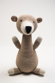 We instantly fell in love with these adorable animals. Super soft, cuddly, crocheted entirely by hand, and ready to be cherished for years to come. Each has spe