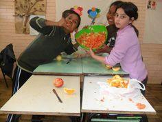Salada de frutas preparada pelos alunos.