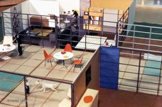 THE COOLEST DOLL HOUSE OF THE CENTURY! : The Revell Toy House designed by Charles Eames. Charles and Ray designed the rooms and spaces in varying sizes so they could be built into one, two, three and four-level structures. (Sadly, it never went into production.)