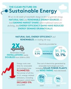 Renewable energy and energy efficiency are on the rise! Here's a clear picture on the state of sustainable energy in the US from the Business Council for Sustainable Energy's 2013 Factbook.