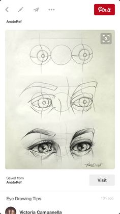 Eye Drawing Tips - I love how quickly this escalates. Its like: well first ya got yer guidelines here, thosell help ya get started. Then yer gunna wanna sketch up a rough version of what yer g? 3d Drawings, Drawing Sketches, Pencil Drawings, Drawing Faces, Cartoon Drawings, Anime Eyes Drawing, Creepy Drawings, Pencil Sketching, Girl Drawings