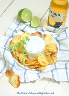 Oven Baked Cumin Sweet Potato Chips with Yogurt Dip