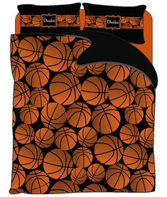 Hey, I found this really awesome Etsy listing at https://www.etsy.com/listing/206811004/monogrammed-basketball-duvet-cover-or