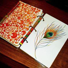 #ArtBySilmairel #MyArt #Art #Sketchbook #Sketch #Pencil #Magic #Kohinoor #Colorful #Pattern #Feather #Peacock