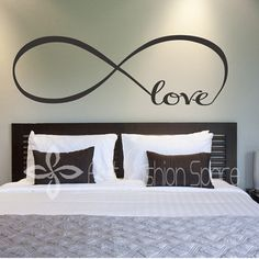 Personalized Infinity Symbol Bedroom Vinyl Wallpaper DIY Wall Decals Love Quotes Painting Wall Art Bedroom Decor Wall Stickers-in Wall Stickers from Home & Garden on Aliexpress.com