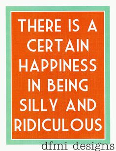 Happiness in Being Silly   custom 8 1/2 x 11 by dfmidesigns