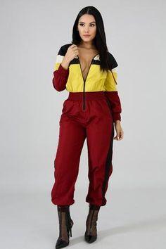 12d914a24e39 Autumn Sporty Jumpsuit Femme