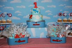 Airplane Party Birthday Cake