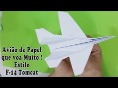 Origami: Avião F 14 Tomcat Paper Airplanes Instructions, Origami, F-14 Tomcat, Personal Care, Letters, Youtube, Diy, Paper Birds, Paper Folding