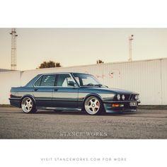 """@M106t's turbo'd #BMW #e28 sitting on a set of OZ Futuras"""