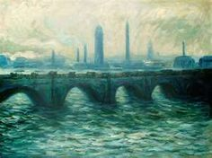 Claude Monet - Waterloo Bridge https://hemmahoshilde.wordpress.com/2015/04/04/monet-brilliant-bridges/ <---- You're welcome to check out my article on this bridge and other bridges by Monet on my art blog :).