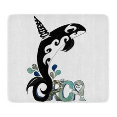 #Orca #Freedom Art glass cutting board by Lee Hiller