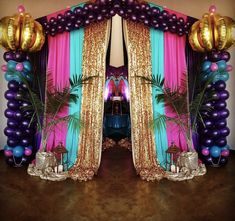 Entrance from an Arabian Nights Birthday Party on Kara's Party Ideas | KarasPartyIdeas.com (7)