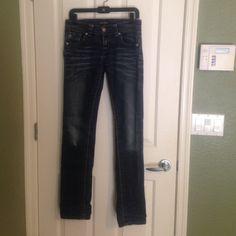 Mek Denim Great condition Mek Denim Harbin straight fit size 27X34. Super cute. MEK Jeans Straight Leg