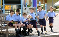 Different needs . . . preparatory students at The King's School in North Parramatta.