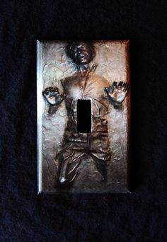 StarWars HAN SOLO CARBONITE  light switch cover // by Nerdgasmo, $6.99