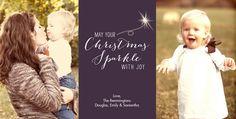 Christmas Sparkle 8x4 Flat Card