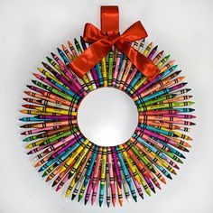 Crayon Wreath  2 layers by ThePowellsBackPorch on Etsy, $35.00