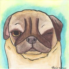 1st day back! Groggy Pug by Claire Chambers - Chickenpants.com