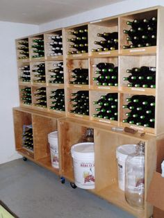 This looks great and super organized and I love being organized! lol.   I love how my wine making stuff would fit underneath and labeled.