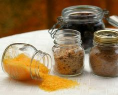 Great Thermomix Christmas idea to make for the festive table or for giving as gifts! Tenina's flavored salts.