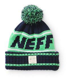 3c89640e656 Neff Tailgate Pom Beanie Hipster Hat
