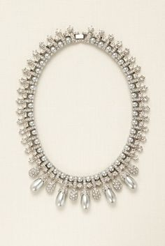 Pearl and Rhinestone Pave Necklace