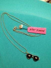 Betsey Johnson Love Aviators Necklace