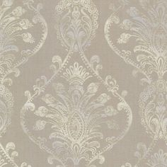 "Avalon Noble Damask 33' x 20.5"" Wallpaper"