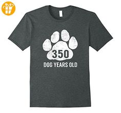 350 Dog Years Old T-Shirt Funny 50th Birthday Gag Gift Herren, Größe 2XL Dark Heather - Shirts mit spruch (*Partner-Link)
