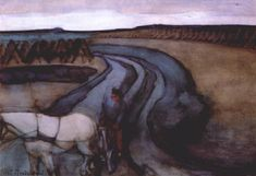 At Work (On the Land), 1898 by Piet Mondrian