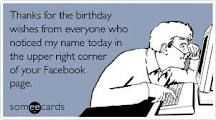 There's nothing like a Facebook birthday!