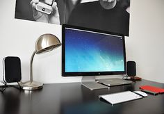 Beautifully minimalist Mac setup of a video editor and student