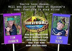 Awesome Survivor Birthday Party Invitations Ideas  Download this invitation for FREE at http://www.bagvania.com/survivor-birthday-party-invitations-ideas.html