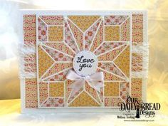 Our Daily Bread Designs Stamp Set: Quilted With Love, Our Daily Bread Designs Paper Collection: Cozy Quilt, Our Daily Bread Designs Custom Dies: Star Quilt, Double Stitched Rectangles
