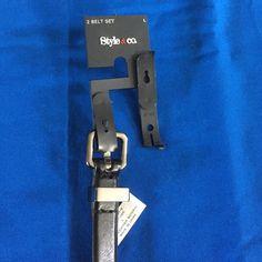 Black Belt Black Belt brand new never used. Style & Co Accessories Belts