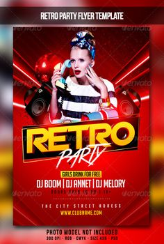 Realistic Graphic DOWNLOAD (.ai, .psd) :: http://realistic-graphics.xyz/pinterest-itmid-1007347295i.html ... Retro Party Flyer ...  club, disco, dj, hit, ladies, music, party, red, retro, star  ... Realistic Photo Graphic Print Obejct Business Web Elements Illustration Design Templates ... DOWNLOAD :: http://realistic-graphics.xyz/pinterest-itmid-1007347295i.html