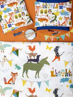 """August & Augustine"" fox bedding by Christian Fischbacher."