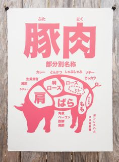 Pork Letterpress Print by peculiarimages