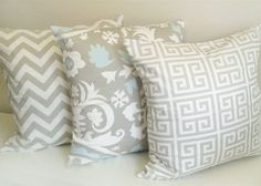 Set of 3 Taupe Pillows. 16 x 16 Inch Pillow by thebluebirdshop, $50.50